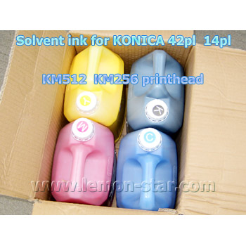 Solvent ink for Konica printhead